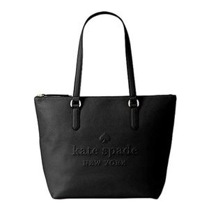 Kate Spade    Leather Penny Larchmont Logo Tote